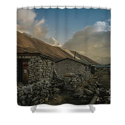 Shower Curtain featuring the photograph Toilet by Mike Reid