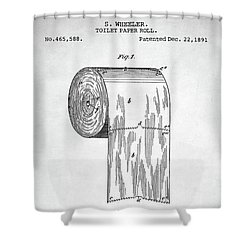 Toilet Paper Roll Patent Shower Curtain by Taylan Apukovska