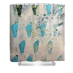 Shower Curtain featuring the painting Tokens by Robin Maria Pedrero