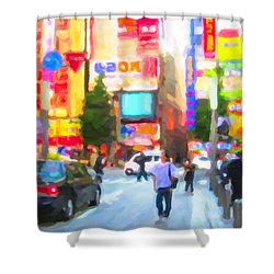 Tokyo Shower Curtain by Chris Armytage