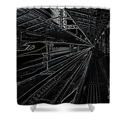 Tokyo To Kyoto, Bullet Train, Japan Negative Shower Curtain