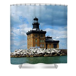 Shower Curtain featuring the photograph Toledo Harbor Lighthouse by Michiale Schneider
