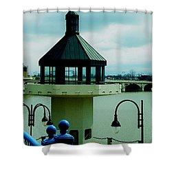 Toledo Ohio Bridge Shower Curtain