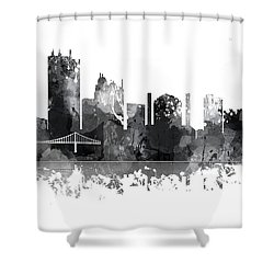 Toledo Ohio Skyline Shower Curtain