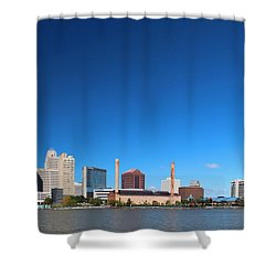 Shower Curtain featuring the photograph Toledo Skyline I by Michiale Schneider