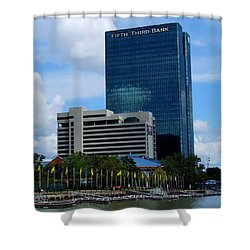 Shower Curtain featuring the photograph Toledo's Waterfront I by Michiale Schneider