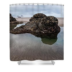 Tolovana Beach At Low Tide Shower Curtain