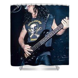 Tom Araya Of Slayer Shower Curtain