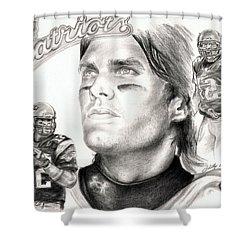 Tom Brady Shower Curtain