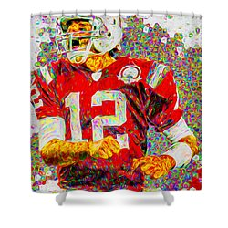 Tom Brady New England Patriots Football Nfl Painting Digitally Shower Curtain