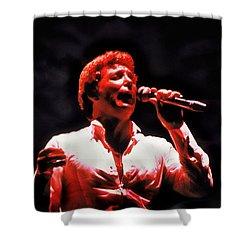 Tom Jones In Concert Shower Curtain by Anthony Dezenzio