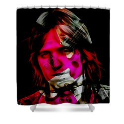 Shower Curtain featuring the mixed media Tom Petty Rock And Roll by Marvin Blaine