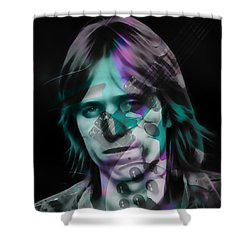 Shower Curtain featuring the mixed media Tom Petty Rock Royalty by Marvin Blaine