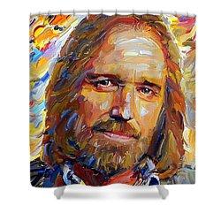 Tom Petty Tribute Portrait 1 Shower Curtain