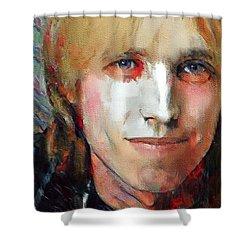Tom Petty Tribute Portrait 3 Shower Curtain
