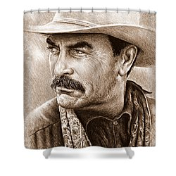 Tom Selleck The Western Collection Shower Curtain