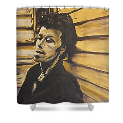 Tom Waits Shower Curtain by Eric Dee