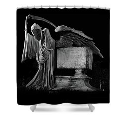 Tomas Riddle Tomb Harry Potter Shower Curtain by Gina Dsgn