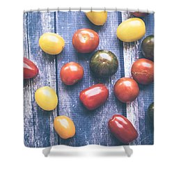 Tomato Medley  Shower Curtain by Nicole English