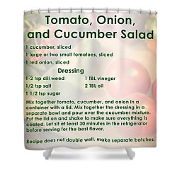 Tomato Onion Cucumber Salad Recipe Shower Curtain