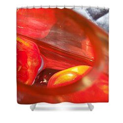 Tomatoe Red Shower Curtain