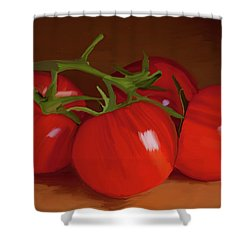 Tomatoes 01 Shower Curtain by Wally Hampton