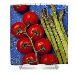 Tomatoes And Asparagus  Shower Curtain