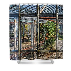 Tomatoes And Pumpkins Shower Curtain