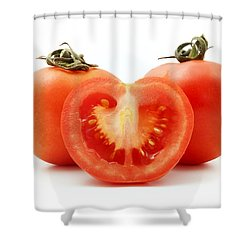 Tomatoes Shower Curtain by Fabrizio Troiani