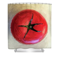 Shower Curtain featuring the digital art Tomato by Lois Bryan