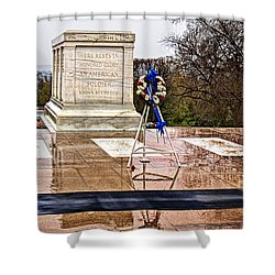 Tomb Of The Unknown Soldiers Shower Curtain by Christopher Holmes