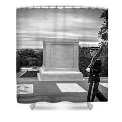 Shower Curtain featuring the photograph Tomb Of The Unknown Solider by David Morefield