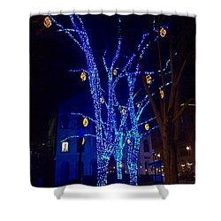 Tommy's Park, Portland, Maine,, Christmas 2015 Shower Curtain