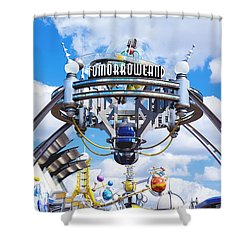 Shower Curtain featuring the photograph Tomorrowland by Greg Fortier