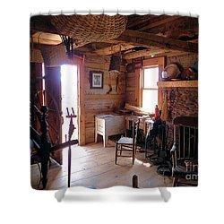 Tom's Old Fashion Cabin Shower Curtain