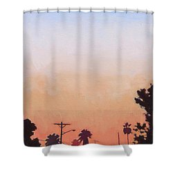 Tonal Hollywood Shower Curtain by Andrew Danielsen