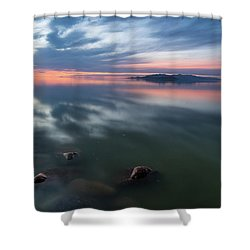 Tonal Sunset Shower Curtain by Justin Johnson