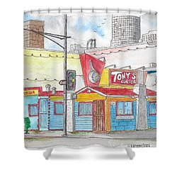 Tony Burger, Downtown Los Angeles, California Shower Curtain