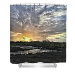 Tonight's Sunset From Thornham Shower Curtain