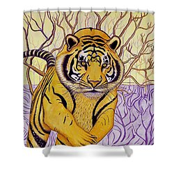 Tony Tiger Shower Curtain by Joseph J Stevens