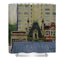 Too Wet To Paint Outdoors  Shower Curtain by Peter Salwen