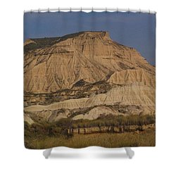 Bardenas Reales Shower Curtain by Charlotte Cooper