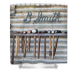Shower Curtain featuring the photograph Tools Of The Trade by Linda Lees