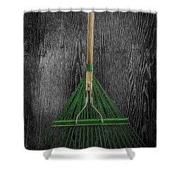 Tools On Wood 10 On Bw Shower Curtain by YoPedro