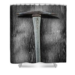 Tools On Wood 13 On Bw Shower Curtain by YoPedro
