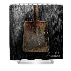 Tools On Wood 4 On Bw Shower Curtain by YoPedro