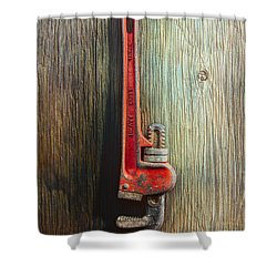 Tools On Wood 70 Shower Curtain