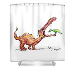 Toothache Shower Curtain by Mark Johnson