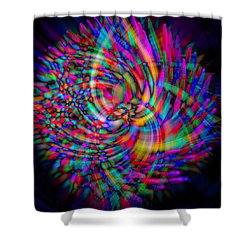 Toothpicks Shower Curtain by Cathy Donohoue