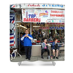 Top Barbers Shower Curtain